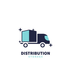 Delivery distribution and storage logo vector