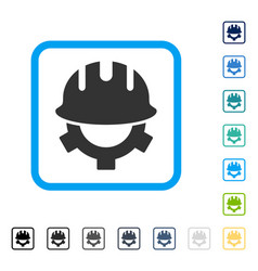 development helmet framed icon vector image