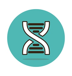 DNA flat icon Medical vector image