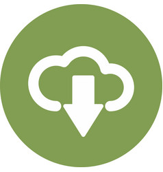Downloading cloud icon isolated on background vector