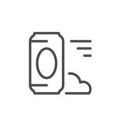 drink can line icon vector image