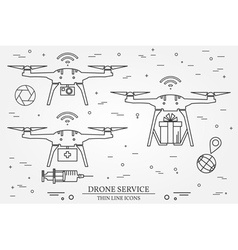 Drone service Drone medical delivery Video and Pho vector