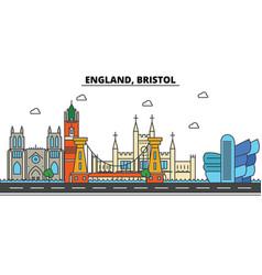 england bristol city skyline architecture vector image