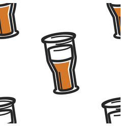 english beer or ale lager or cider seamless vector image