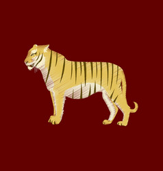 flat shading style icon tiger vector image