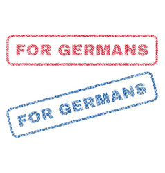 for germans textile stamps vector image