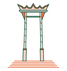 giant swing brahmin linecolor vector image