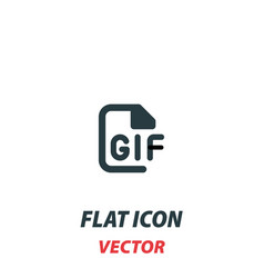 Gif file format icon in a flat style pictograph vector