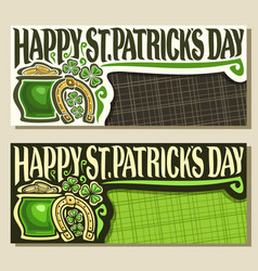 greeting cards for saint patricks day vector image