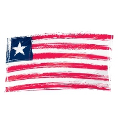 Grunge Liberia flag vector image
