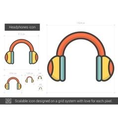 Headphones line icon vector