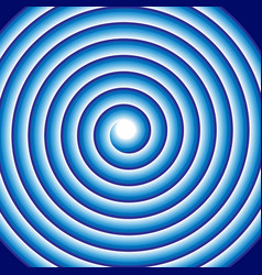 hypnotic blue spiral abstract optical coil swirl vector image