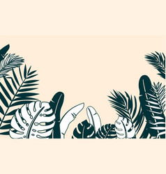 jungle plant border vector image