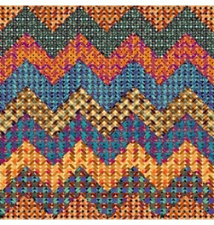 Knitted chevron vector image