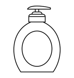 Liquid soap icon outline style vector