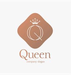 Logo design letter q concept for luxury business vector
