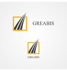 Logo for trade or construction company vector image