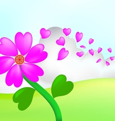 love flower vector image