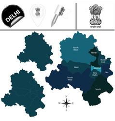 Map of delhi india vector