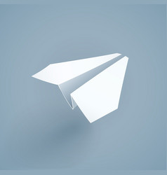 Paper origami airplane vector