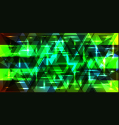 Pattern of shimmering triangles and stripes in vector