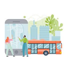 Public city transport app vector