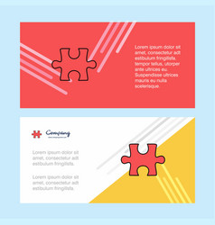 puzzle piece abstract corporate business banner vector image
