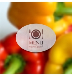 realistic food background of red and yellow vector image