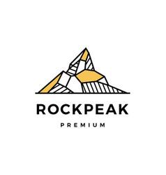 rock peak mount stone logo icon vector image