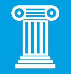 roman column icon white vector image