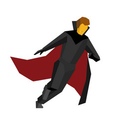 running halloween vampire on white background vector image