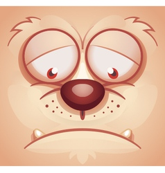 Sad Animal Face vector image