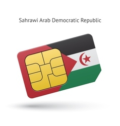 Sahrawi Arab Democratic Republic phone sim card vector image