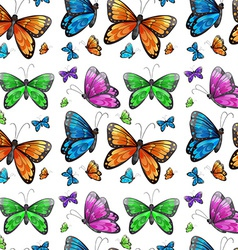 Seamless butterfly vector image