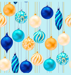 Seamless christmas decorations vector