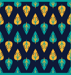 seamless leaves pattern decorative vector image