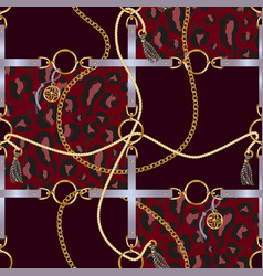 Seamless pattern with belts chain vector