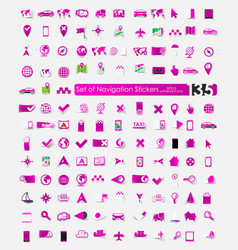 Set of navigation stickers vector