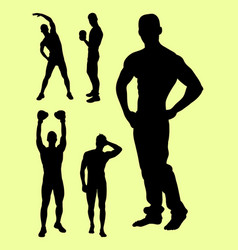sexy man gesture silhouette vector image