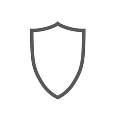 Shield contour icon isolated on white vector