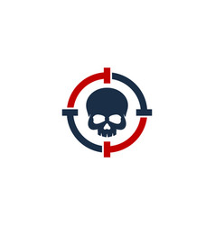 skull target logo icon design vector image