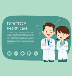smart doctor for layout poster vector image