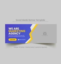 Social media banner for digital business marketing vector