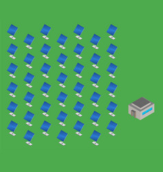 solar energy station isometric vector image
