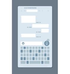 User interface messenger vector