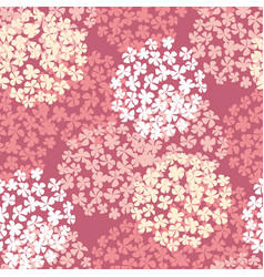 vintage pink floral bouquet seamless pattern vector image