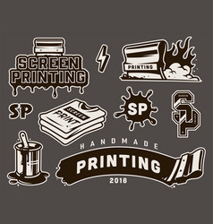 Vintage screen printing concept vector