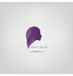 Woman silhouette logo design template vector image