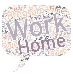 Work at Home Common Mistakes text background vector