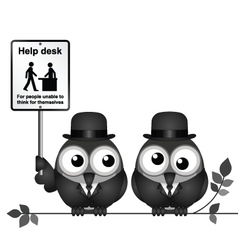 Help Desk Sign vector image vector image